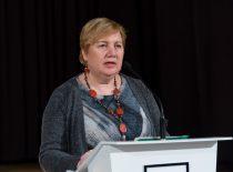 2019-12-04 KTU muziejaus direktorė Velentienė supažindina su Aukštųjų kursų atsiradimo istorija